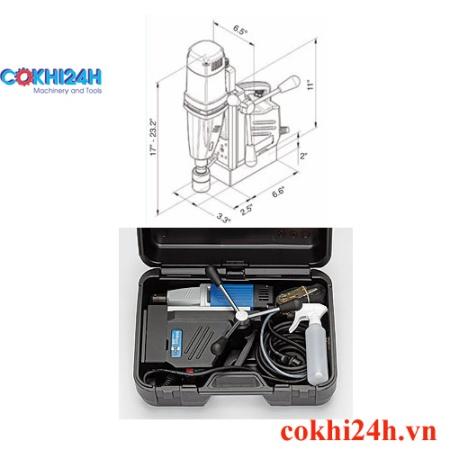 Kích thước máy và hình ảnh đóng kiện của máy khoan từ BDS MABasic 450
