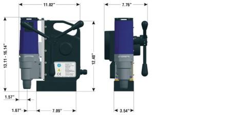 kích thước máy khoan từ tự động automab 1500