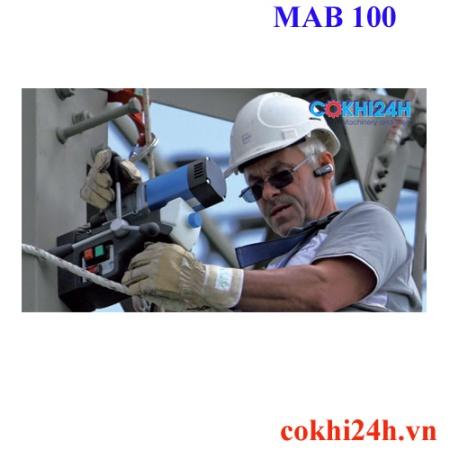 ví dụ về ứng dụng máy khoan từ bds MAB 100